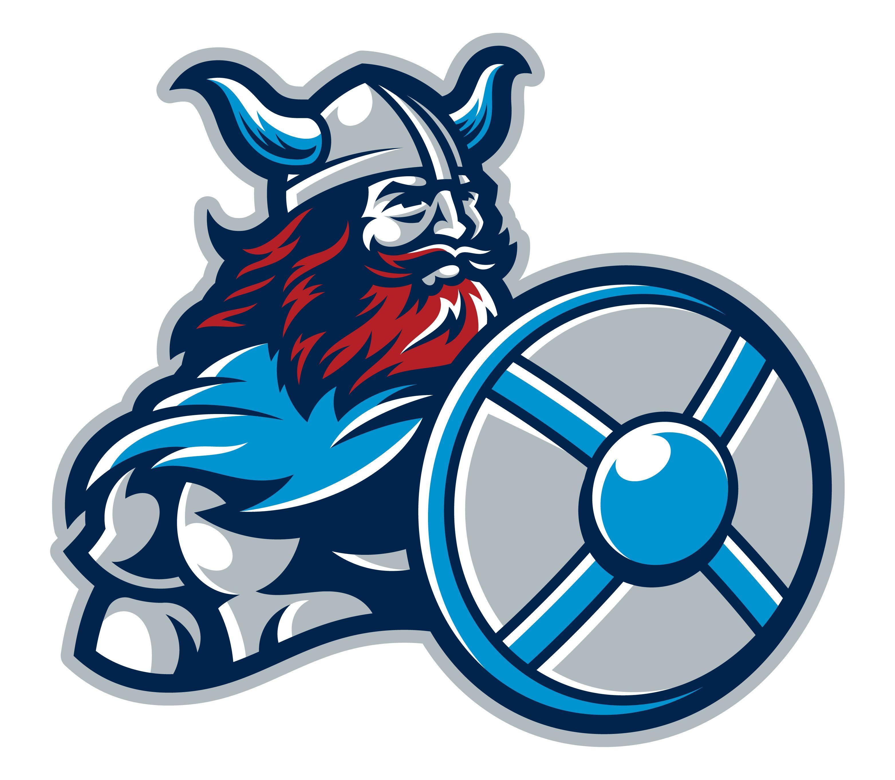 Rebrand of local High School. Mascot design, Viking logo