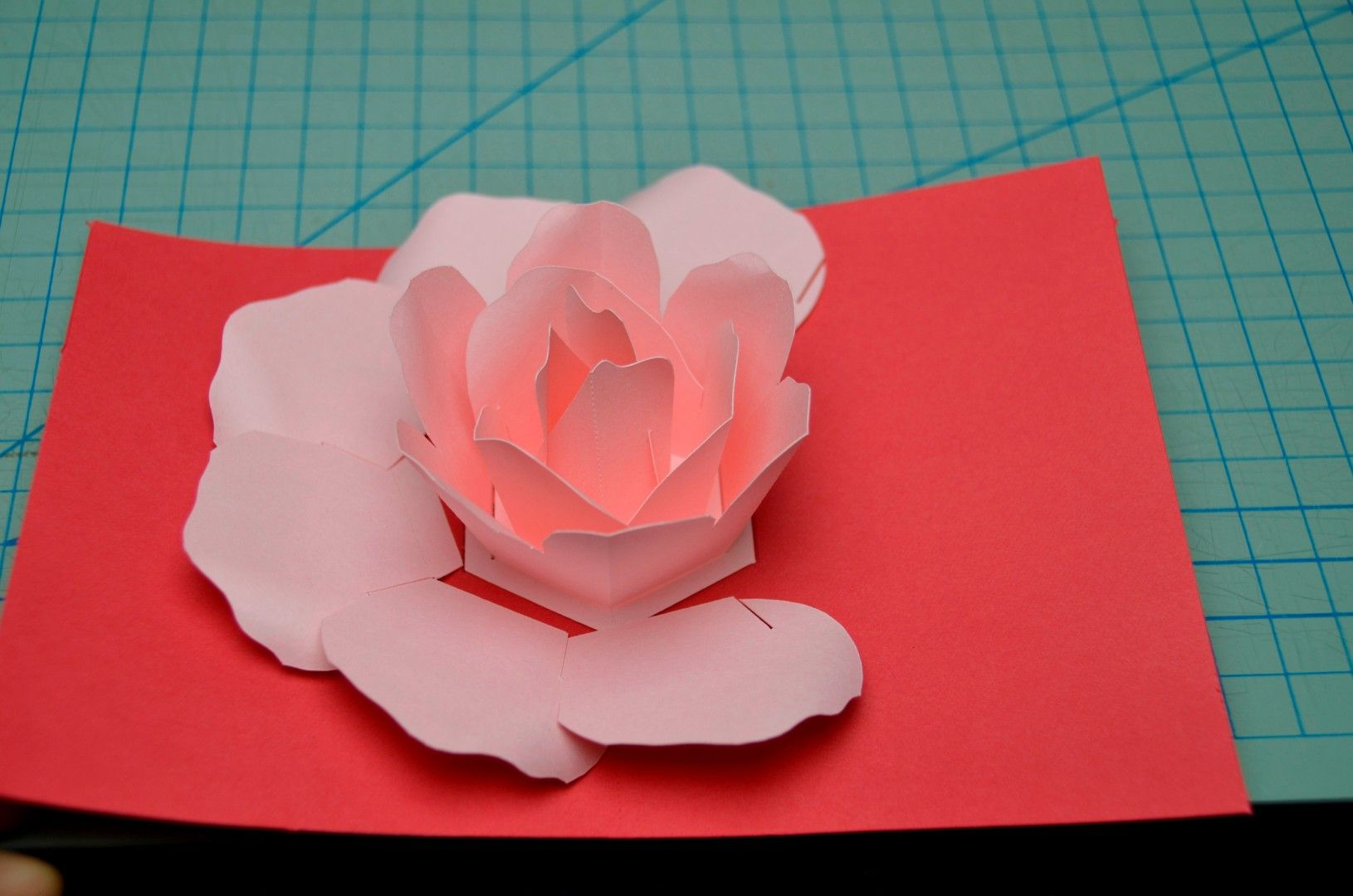 Rose Flower Pop Up Card Tutorial Creative Pop Up Cards Pop Up Valentine Cards Pop Up Cards Pop Up Flower Cards