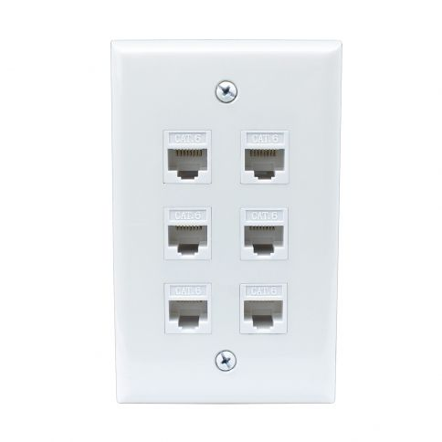 Ethernet Wall Plate 4 Port Cat6 Ethernet Cable Wall Plate Female to Female /…