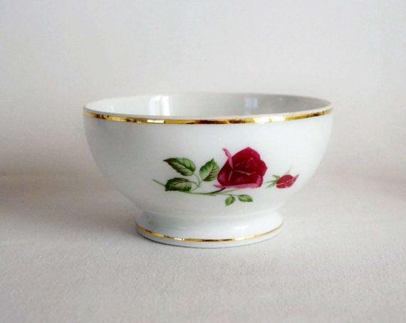 Bol céramique ancien en porcelaine CNP décor par FrenchDecoChic