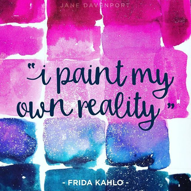 My reality includes a little sparkle today! Xoxo jane  #janedavenportmixedmedia #janedavenport #jdmm #mermaidmarkers