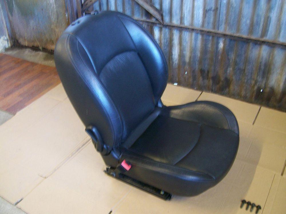 PEUGEOT 206 CC N/S/F PASSENGER SEAT LEATHER BLACK OFF 2001