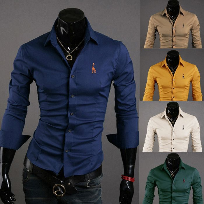 Mens Casual Button Down Shirts Embroidered Logo   Shirts, Products ...