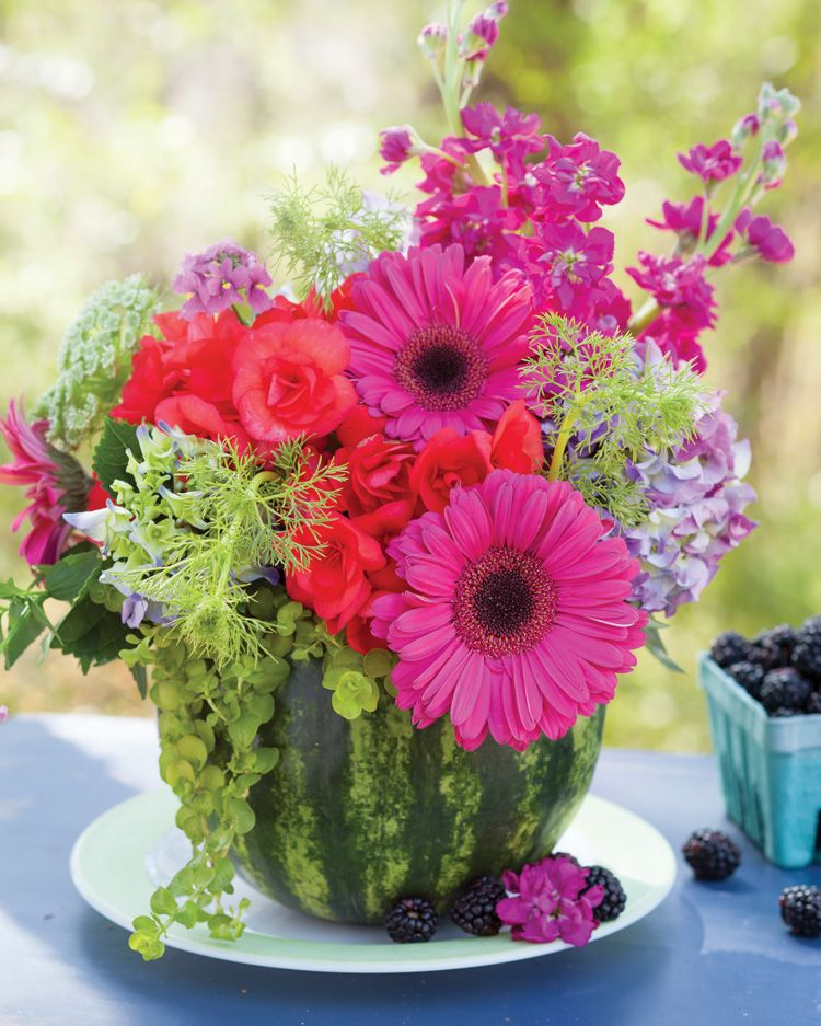 Ideas For Wedding Flower Arrangements: Create Summer Floral Arrangements In Fruit