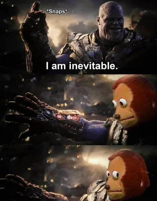 Thanos в Instagram: «I am inevitable # meme #memes #funny...»
