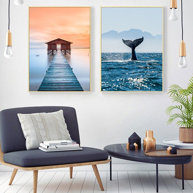 Poster Vintage Canvas Painting Modern Landscape Wall Art Living Room Print Picture Big Size Home Decoration Cuadros Art Living Room Art Prints Landscape Wall Art Living Rooms Landscape Wall Art Wall art prints living room