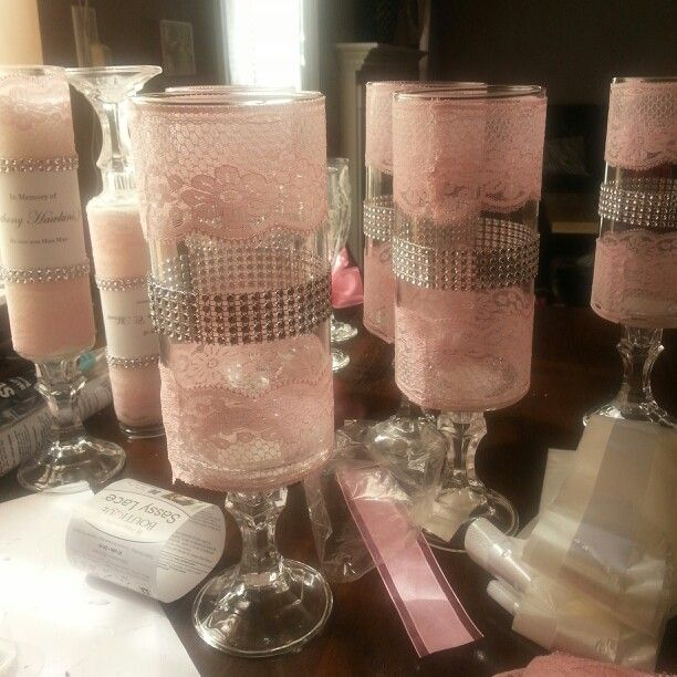 Wedding centerpiece idea Supplies from the Dollar tree and Joann