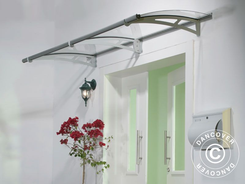 Door Canopy Aquila 0.915x2.055 M, Silver/Clear