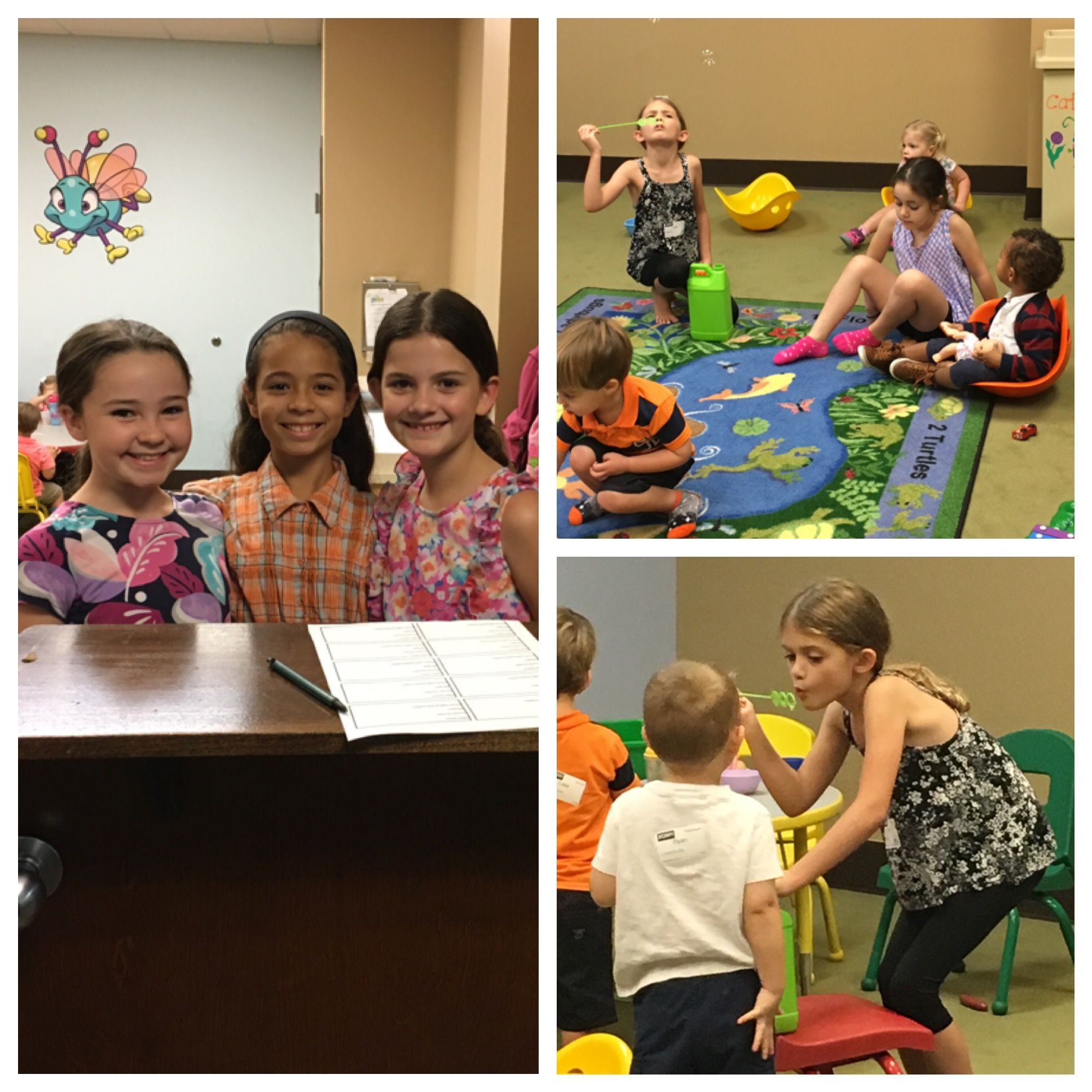Serving in 2 year old rooms during CF Mom's!