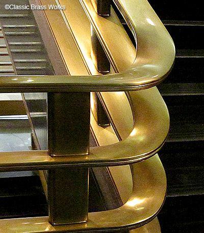 Best Flat Brass Handrail Handrail Stair Railing Stair Well 400 x 300