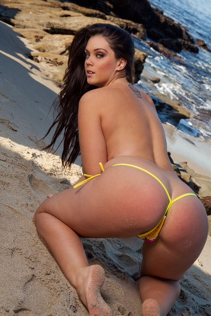 Hot bikini bent over photo