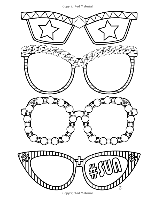 girl stuff 24 totally girly coloring pages dani kates 9781523936212 amazon