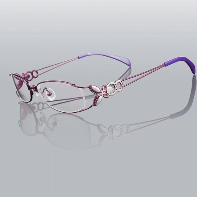 Butterfly Alloy Elegant Women Glasses Frame Female Vintage