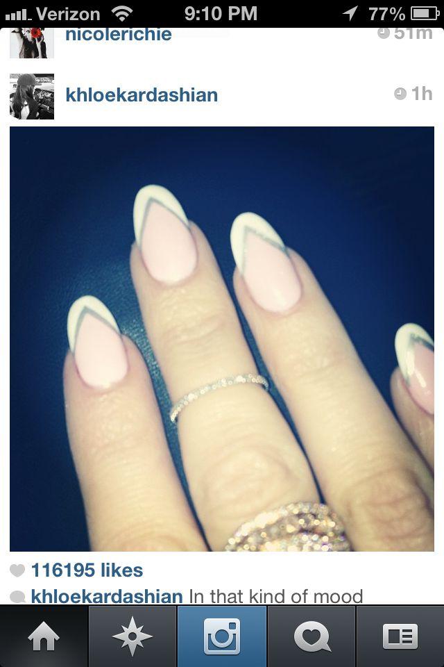 Khloe kardashian nails pic frm Instagram | Makeup | Pinterest ...