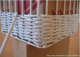 Resultado de imagen para como hacer canastas de diario cesteria sobres de papel cesta de - Cestas de papel periodico ...