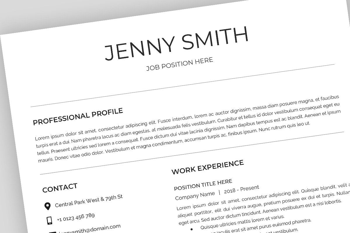 Ad Resume Template, CV, Google Docs by Best Themes
