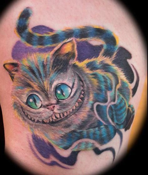 cheshire cat tattoo tattoo ideas pinterest katzen t towierungen grinsekatze und tattoo ideen. Black Bedroom Furniture Sets. Home Design Ideas