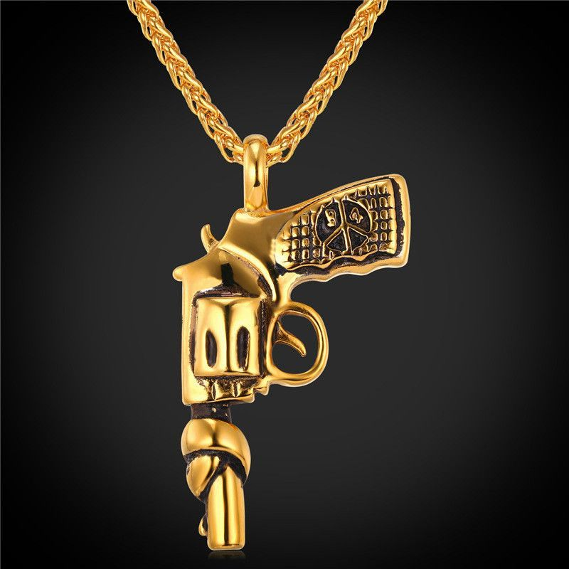 Stainless Steel Necklace American Style Roscoe Pendant Hiphop Chain
