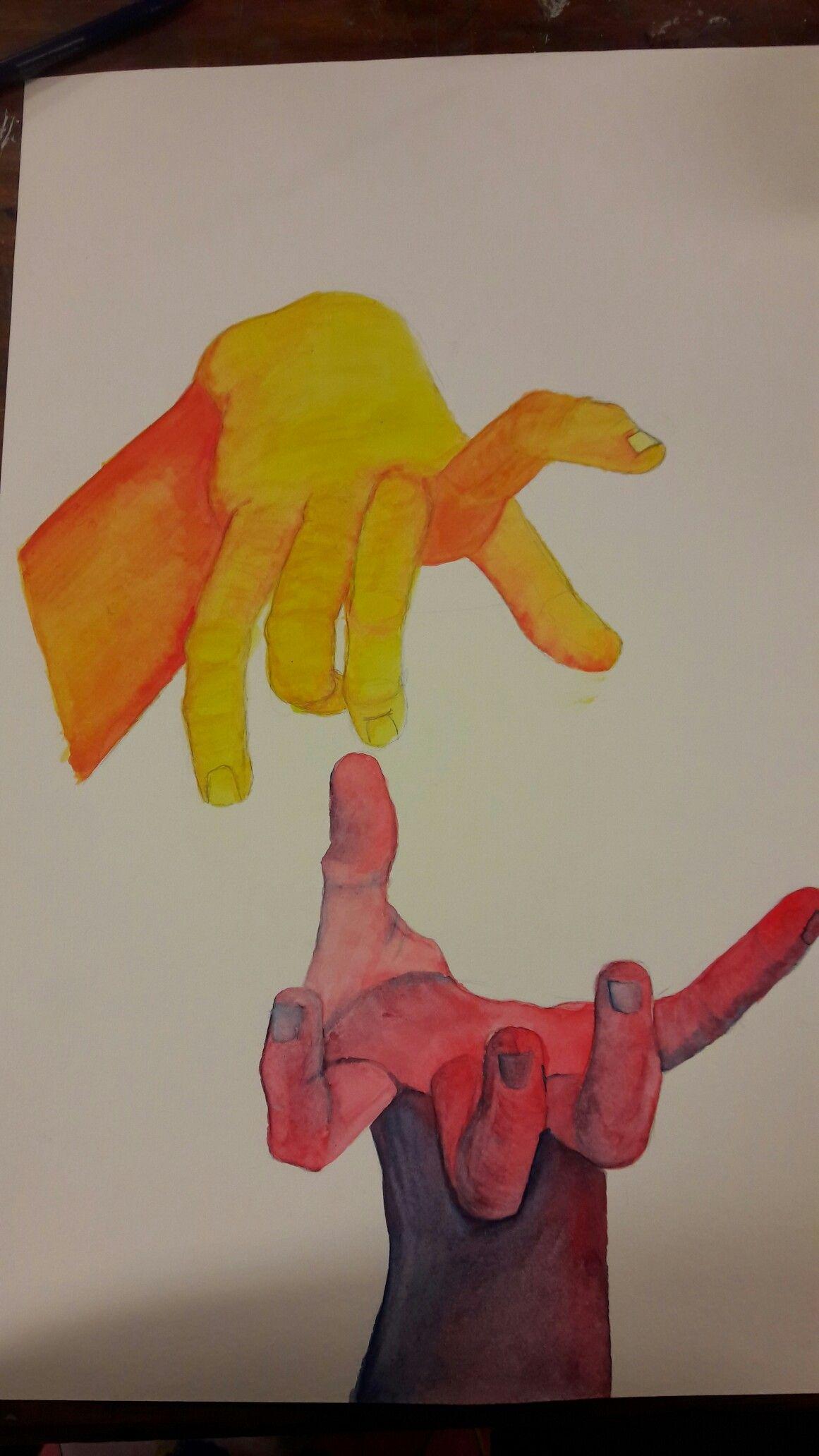 Anatomía manos en acuarela | grabado | Pinterest | Anatomia mano ...
