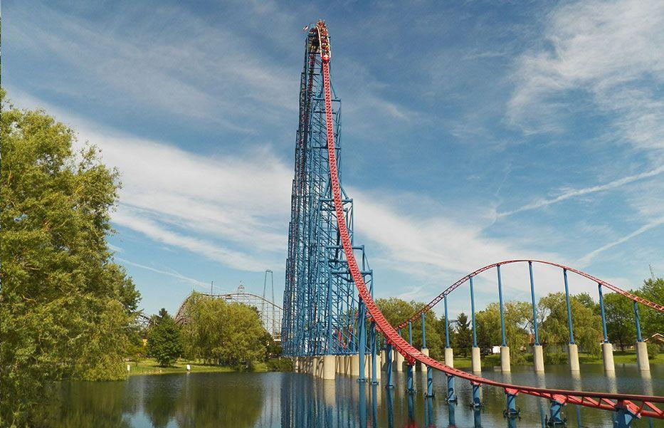 Darien Lake Amusement Park Thrill Rides Ride Of Steel Darien Lake Thrill Ride Amusement Park Rides