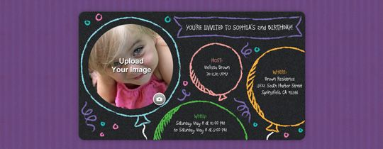 Free ECards And Party Planning Ideas From Evite Chalk Balloons Invitation