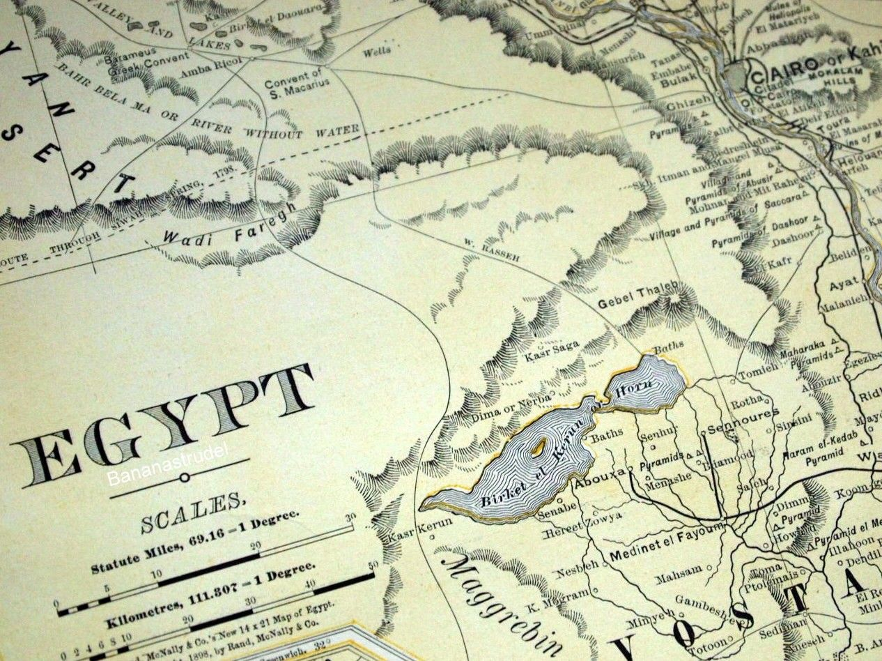 More Than Fullcolor Highly Accurate Topographical Maps - Vintage map of egypt