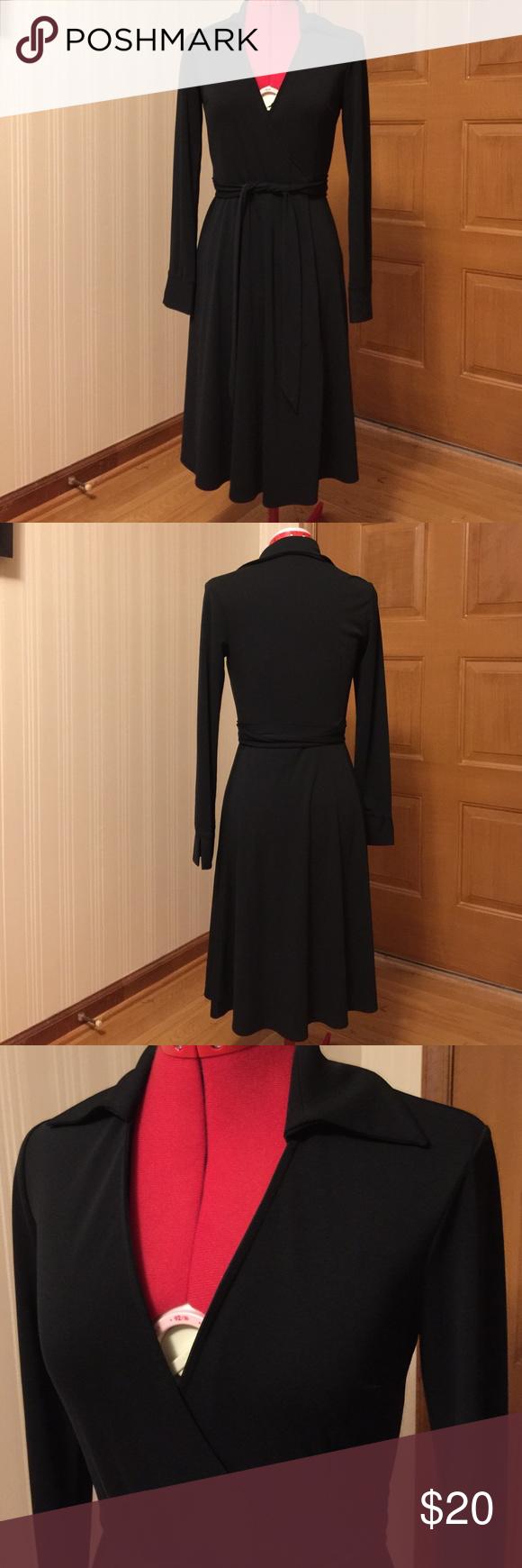 Express black wrap dress long sleeves size my posh picks