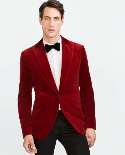 Image 4 of VELVET BLAZER from Zara | Blazer men | Pinterest ...