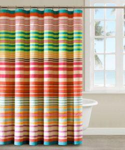 curtains Unique horizontal striped shower