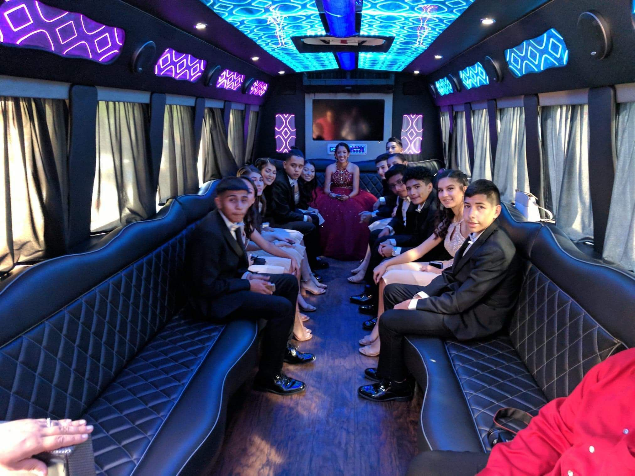 Inside S And T S Party Bus Houston Quinceanera Party Bus Party Bus Rental Houston Party Party Bus
