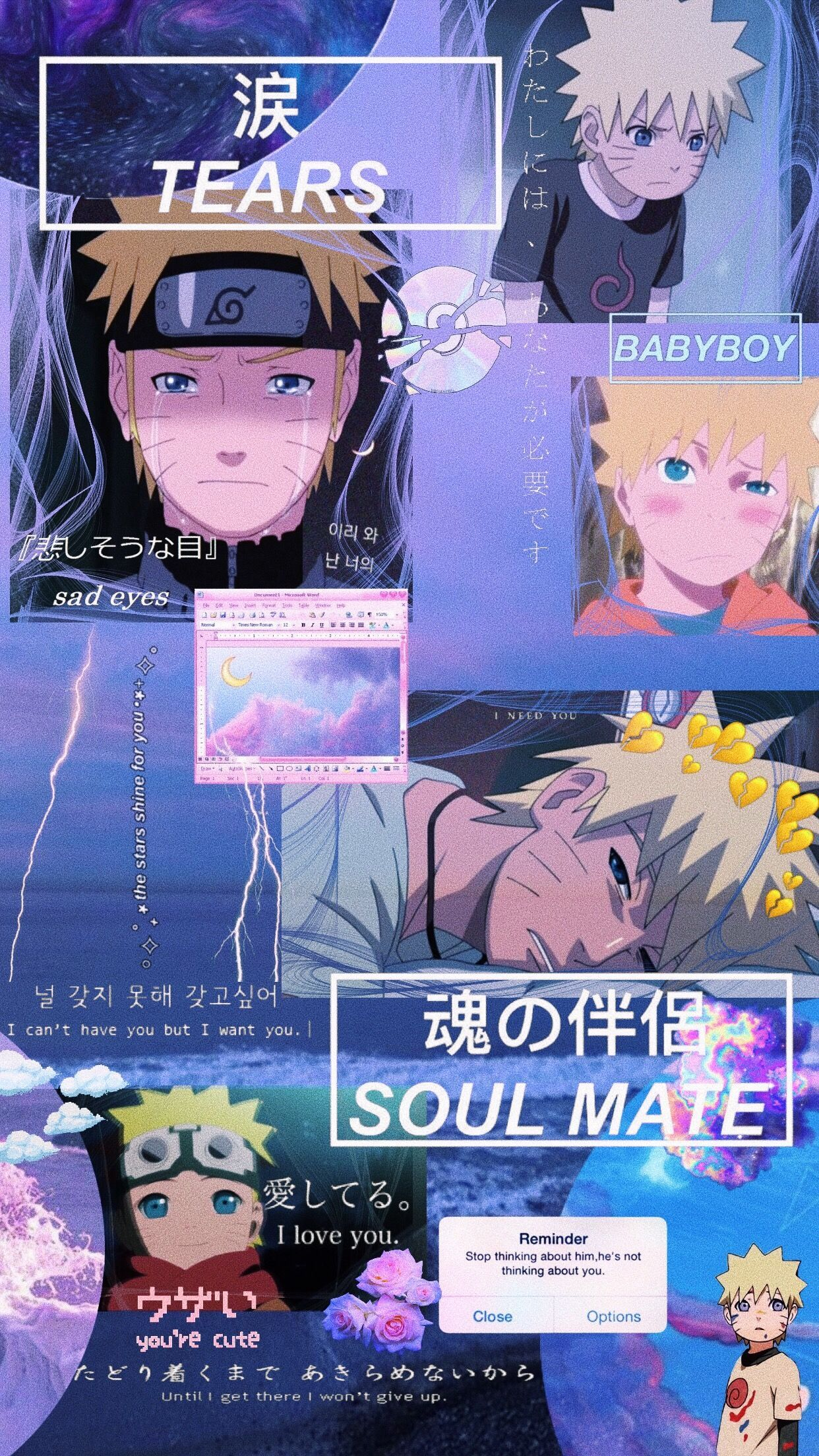 Naruto Anime Narutoshippuden Aesthetic Edit Wallpaper