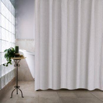 Farmhouse Ticking Stripe Shower Curtain Farmhouse Shower Farmhouse Shower Curtain Shower Curtain