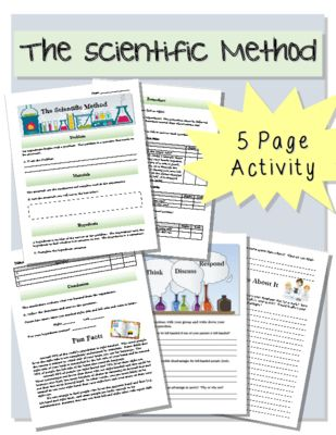 scientific method packet from the resourceful teacher on 6 pages this. Black Bedroom Furniture Sets. Home Design Ideas