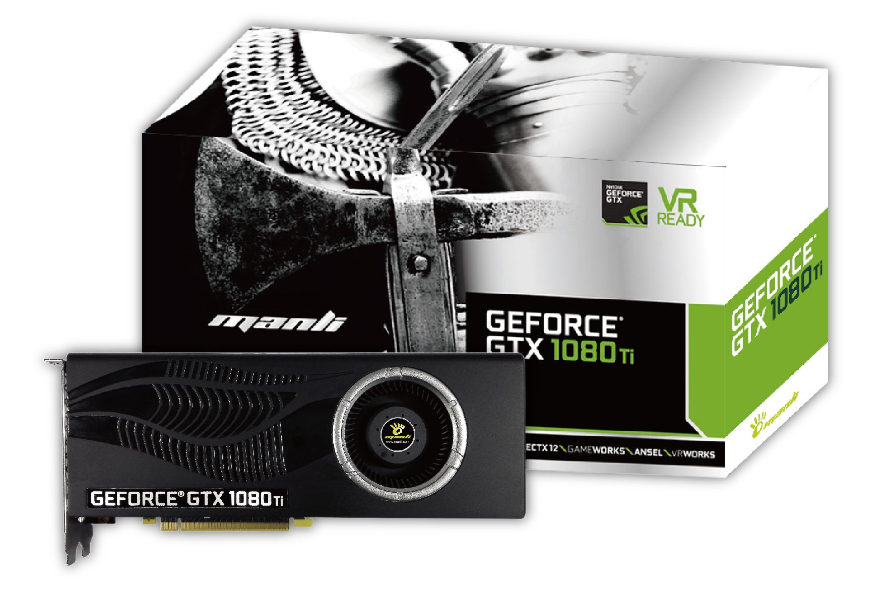 Manli Geforce Gtx 1080 Ti With Blower Fan Graphic Card Blower Fans Graphic