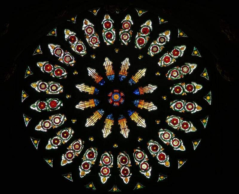 York minster stained glass rose window medieval stained for Rose window york minster