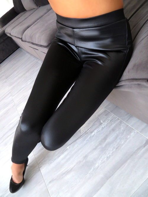 slim leggings lederoptik