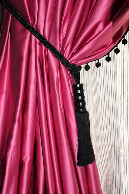 Great Color Pink Curtain This Could Be On The Entrance
