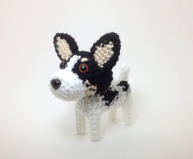 Rat Terrier Stuffed Toy Amigurumi Dog Crochet Puppy Plush Doggie