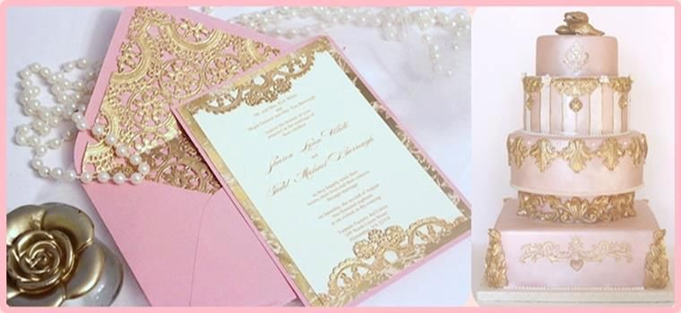Lovely Invitation For A Royal Themed Wedding