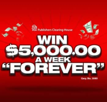pch com $ 5,000 A Week For Life Sweepstakes | Winners board
