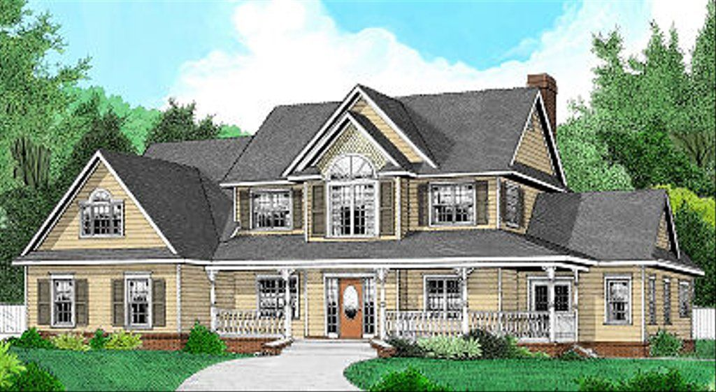 Country Style House Plan - 4 Beds 2.5 Baths 2302 Sq/Ft Plan #11-226