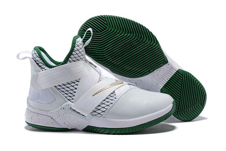 "32cc787c5bb4 Men s Nike LeBron Soldier 12 ""SVSM Home"" White Multi-Color AO2609 ..."