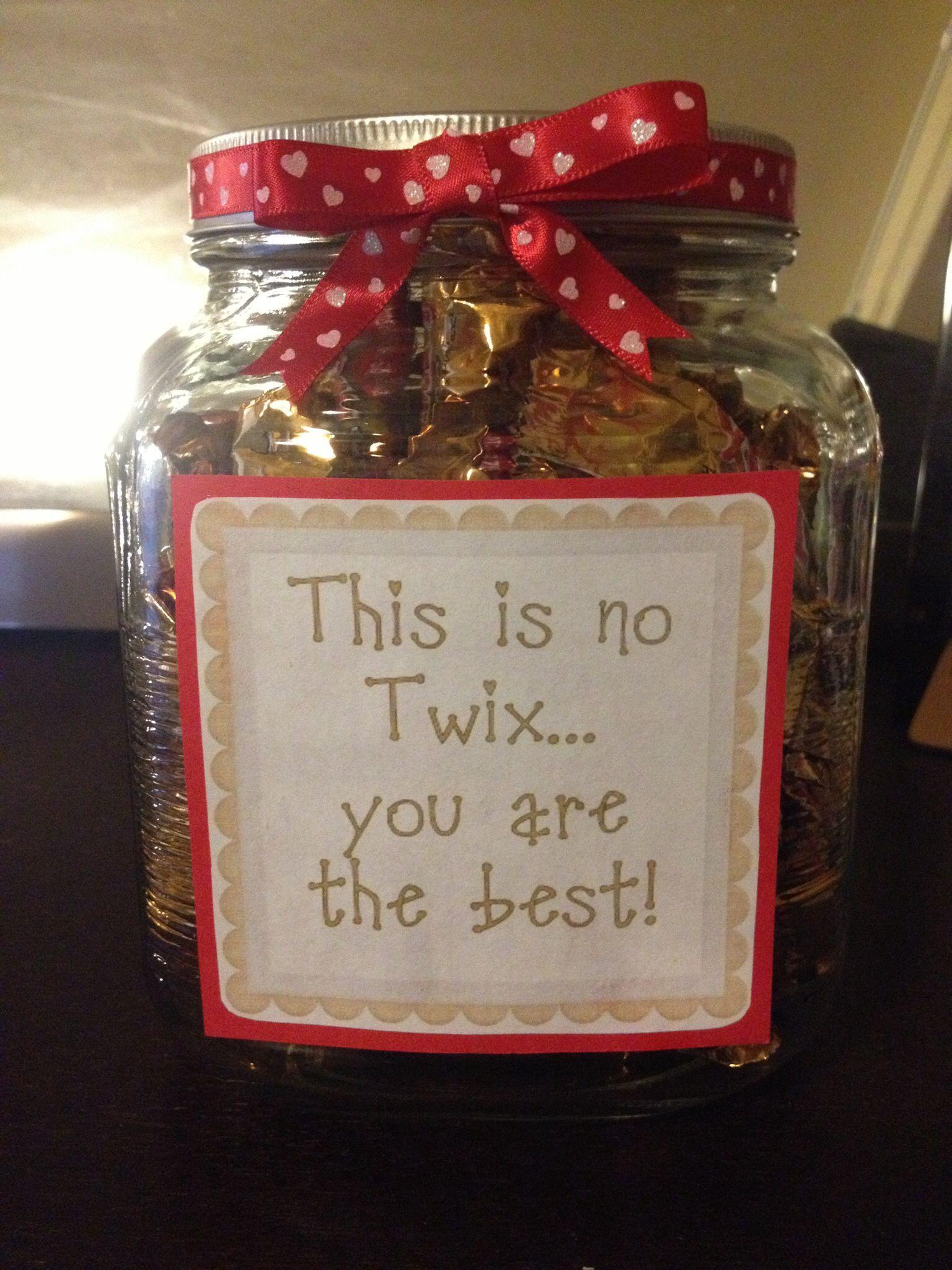 Valentine S Day Twix Candy Jar Twix Candy Quotes Birthday Gifts For Boyfriend Diy