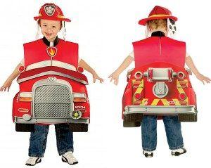 coche bomberos silla niño carnaval