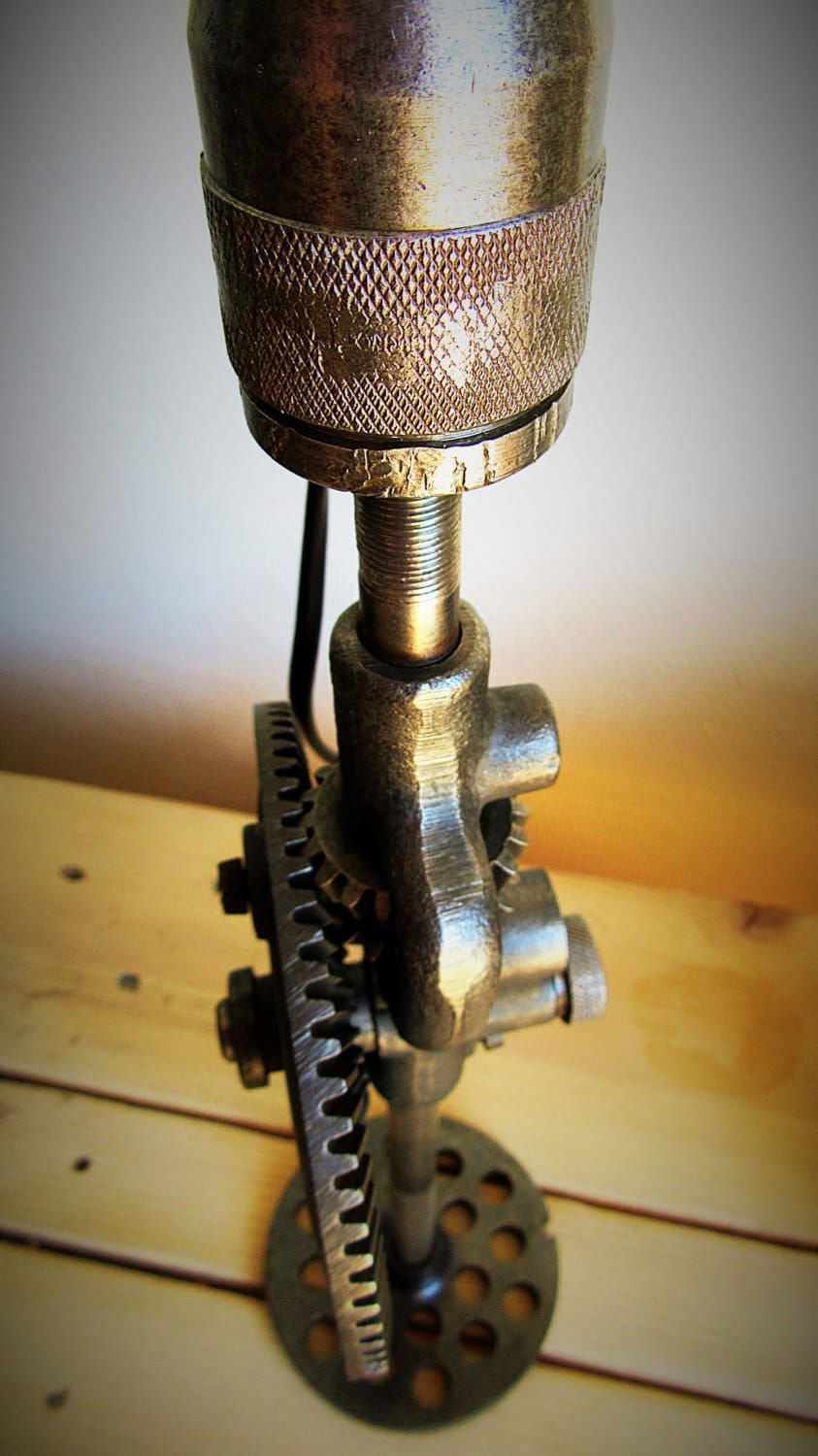 Lumimeca Recycled Steampunk Table Lamp Table Lamps