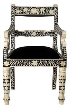 Bone Inlay Chair|Bone Inlaid Chair|Bone Inlay Ramu0027s Hed Chair|MOP Inlay  Chair From India|