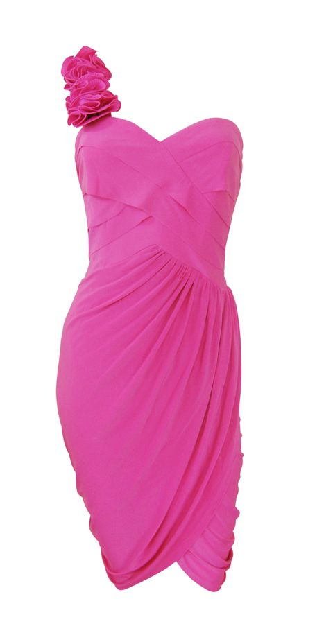 Pink One Shoulder Cocktail Party Dress 'Charity' Size 10 14 New | eBay