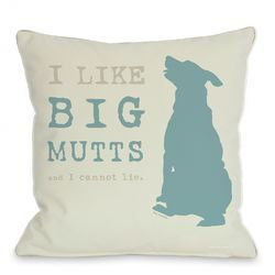 I Like Big Mutts Throw Pillow
