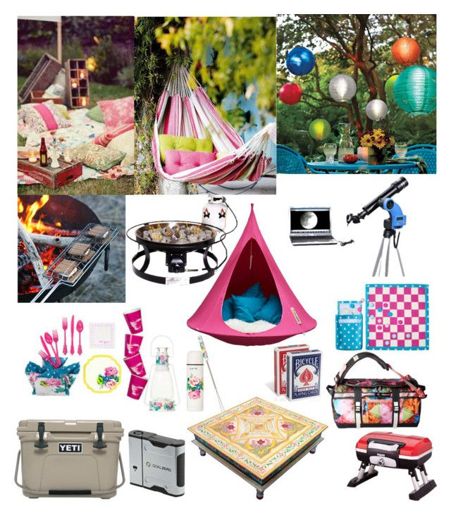 """Summer Glamping"" by horcal ❤ liked on Polyvore featuring interior, interiors, interior design, home, home decor, interior decorating, The North Face, Cacoon, Cuisinart and Improvements"