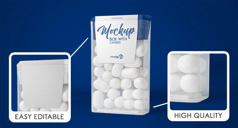 Download Free Clear Plastic Candy Box Mockup Psd Free Package Mockups Box Mockup Free Packaging Mockup Packaging Mockup